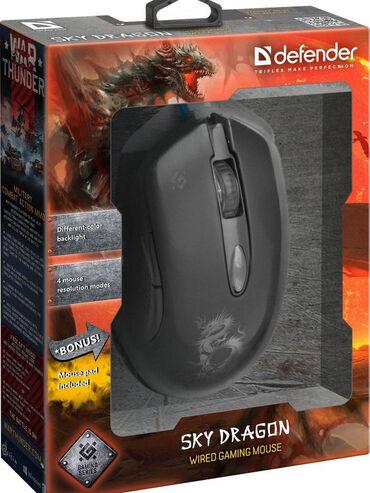 Defender / Игровая мышь оптика, 6 кнопок, dpiРасширенная