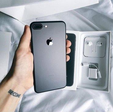 Продаю iphone 7+ matte black 128 gb в отличном в Бишкек