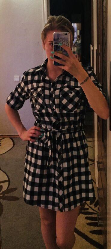 летнее платье свободного кроя в Кыргызстан: Продаю платье рубашку. Платье офигенного качества, 100% хлопок