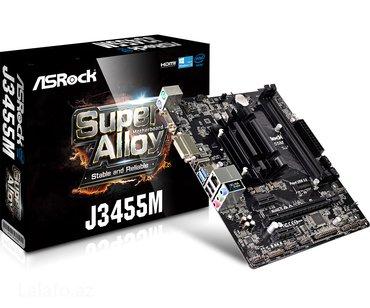 Asrock j3455m (plata + prosessor) combo. Format: microatx  в Bakı