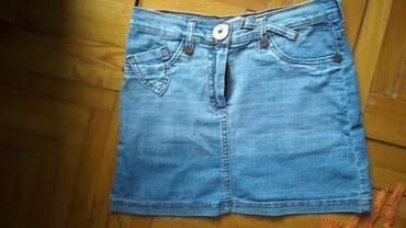 Mini teksas suknjica,velicina S,potpuno nova. lepaaa - Batocina - slika 4