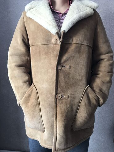 одежда больших размеров бишкек в Кыргызстан: Продаётся мужская дубленка Турция. Размер 50-52. Состояния как новая,о