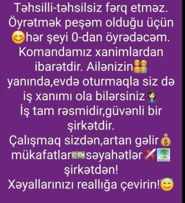 Tavalar - Azərbaycan: Yeni biznes lahiyesinde xanımlardan ibaret olan komandama aktiv xanım