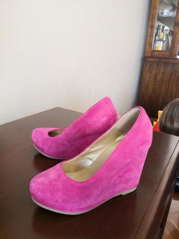 Nove pink kožne cipele, broj 37, NOVO, u odličnom stanju, bez