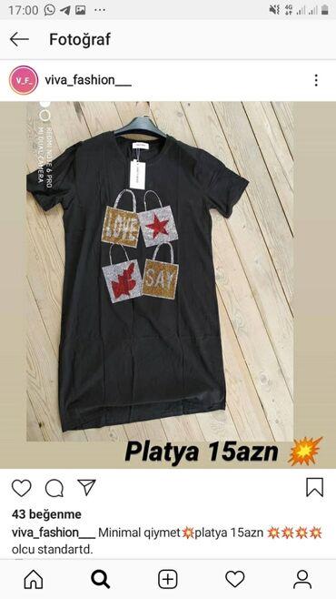 zhenskie velyurovye platya в Азербайджан: Platya 15azn