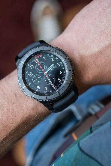 samsung gear s3 в Кыргызстан: Продаю часы Samsung gear s3 frontier состояние идеальное, комплект