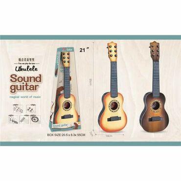 Gitara igračka za decu tamno braon CENA: 1900 din Kod: mbGitara ima