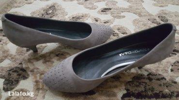 Замшевые женские туфли серого цвета, в Бишкек