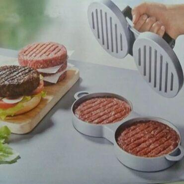 Press burger. Əldə etmək üçün tələsin