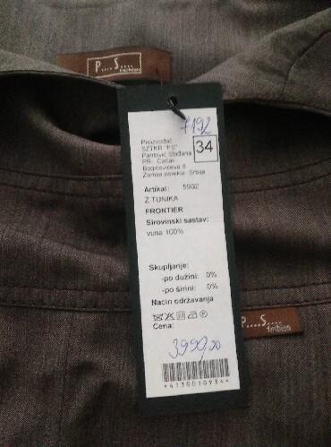 P s haljina - Srbija: P. S. Fashion Vunena haljina, veličina 34.nova sa etiketom