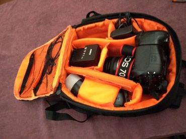 Bakı şəhərində Canon 70D 18:200 Made in Japan body,obyektiv,Mb, işıq,kart,doldurucu
