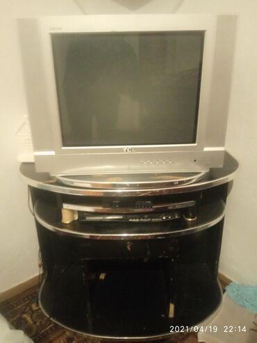 Продаю телевизор+ресивер+DVD и подставка, без пульта в рабочем