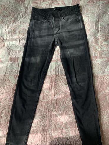36 размер в Кыргызстан: Продаю джинсы Zara, носили всего один раз. Размер 36