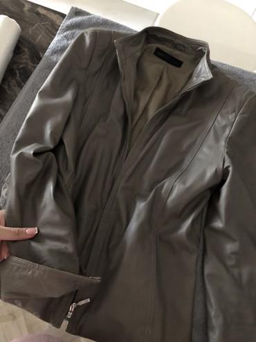 стирающая кожаная куртка в Кыргызстан: Кожаная куртка натуральная кожа серого цвета