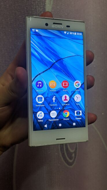 тайп си наушники в Кыргызстан: Sony Xperia X Compact | 32 ГБ | Белый | Б/у | Сенсорный, Отпечаток пальца