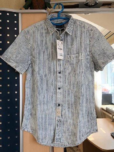 Zara мужская новая рубашка slim fit размер S,цена 2500с