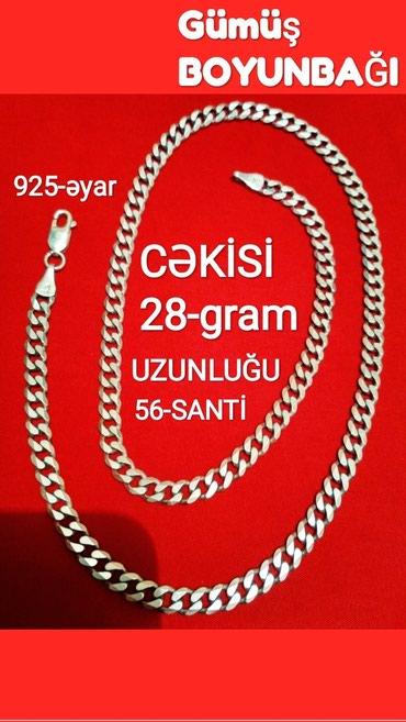 Bakı şəhərində GUMUW BOYUNBAQI 925-əyyarli (Sep) cekisi 28-gram .uzunluğu 56-santi