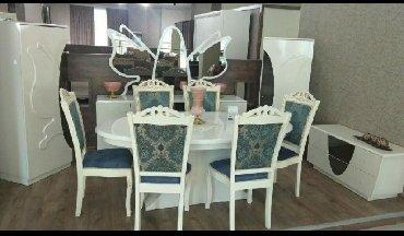 yeni stol stul modelleri в Азербайджан: Qonaq otağı üçün Stol-Stul destiKirayede qalanlara Kredit