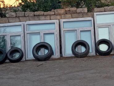Pəncərələr - Azərbaycan: 120 ×140 =85 manata 1 eded plastik pəncərə