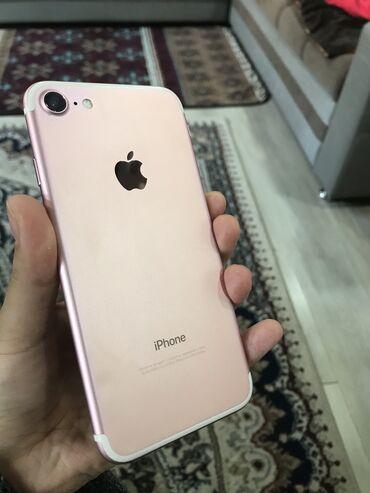 Apple Iphone - Состояние: Б/У - Бишкек: Б/У iPhone 7 32 ГБ Розовое золото (Rose Gold)