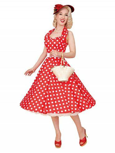 Duga leprsava haljina - Kraljevo: PIN UP RETRO, VINTAGE Odlicna, lagana leprsava haljina na tufne