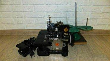 Оверлок 3-х ниточный, полный комплект, с мотором, педалью, в рабочем
