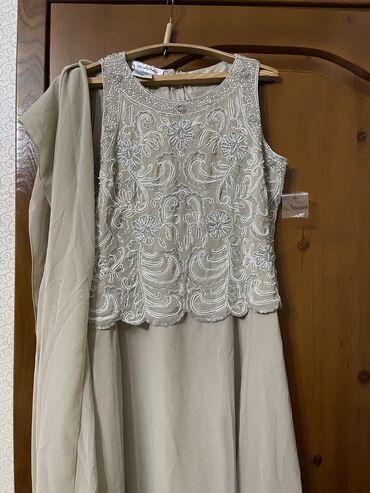 где купить коврик для йоги в Кыргызстан: Вечернее платье + шаль. Новое. Куплено в США. Пр-во Индия. Размер