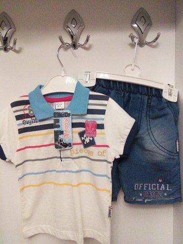 Xırdalan şəhərində Костюмчик на мальчика новый ,от 1-2лет ,маичная футболка и джинсовые ш
