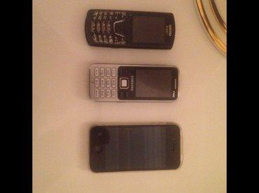 Sumqayıt şəhərində İphone4s, 2 sade samsung. Cemi 120 azn