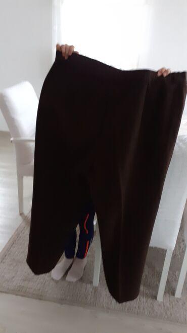 Zimske tople cizmice - Srbija: Zimske tople pantalone od braon kase nove vel.48