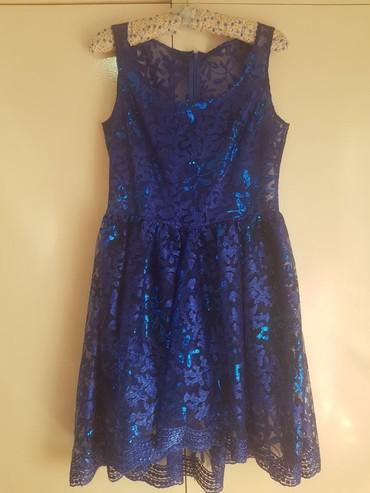 Kraljevsko plava haljina, jednom obucena za svadbu, placena 150e, od - Belgrade