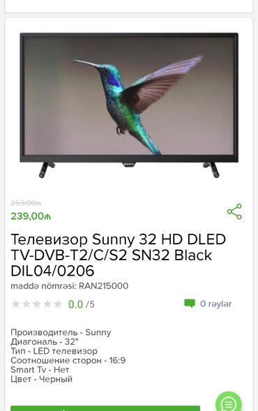 sunny - Azərbaycan: Televizor Sunny  Tam zəmanətlə 1 kart və digər taksit kartiyla 18 ayad