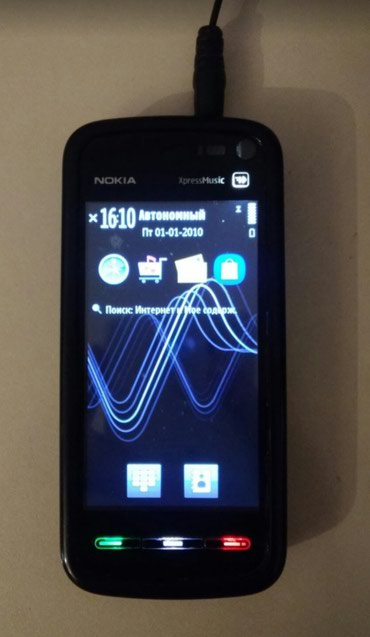 Nokia 5800 xpressmusic. Nomre yerinde bowluq var. Bawqa her wey