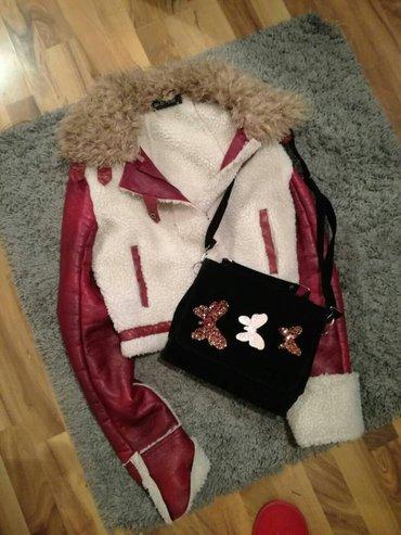 Zenska zimska jakna, eko koza sa vestackim krznom, u odlicnom stanju k - Pirot