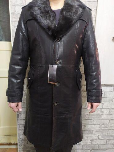 Продаём кожаное пальто. Размер L, 50, подойдёт на рост 170-180