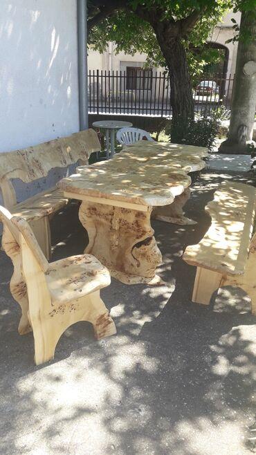Klupe - Srbija: Stol i 2 klupe stol dimenzije 200x9o