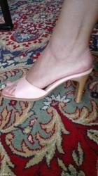 Papuce, nanule, na stiklicu, svetlo roze, broj 37, udobne, malo nosene - Nis - slika 2