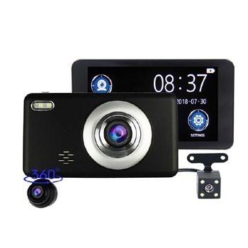 Новинка 2019, Автомобильный Видео Регистратор на 3 Камеры DVR