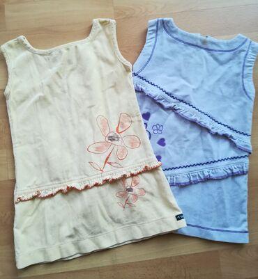 Dečija odeća i obuća - Vranje: Haljine somot 2 kom oba za 550 din, vel 2, obim ispod pazuha 56 cm