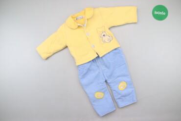 Дитячий набір одягу з ведмедиком вік 6 місяців     Довжина комбінезону