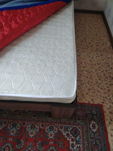 Продам двух местную кровать почти новый с матрасом токмак в Токмак