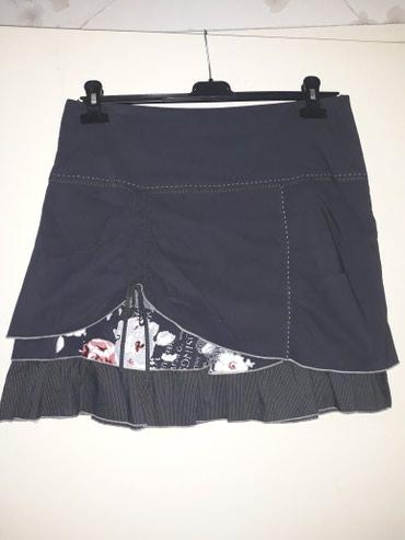 Zuta-sujnjica-svega-dva-struk-cm - Srbija: SNIZENJEEEE. Preslatka suknjica,tamno siva,duz.47 cm,struk 44 cm