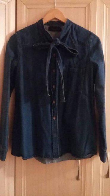 джинсовая жилетка женская в Кыргызстан: Джинсовая рубашка ZARA размер L
