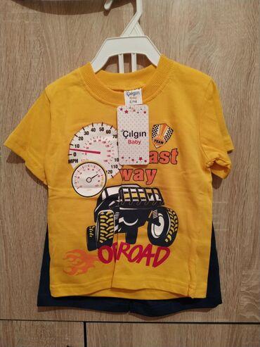 Наборы футболки с шортами для мальчиков 2-3 года хлопок 100% привезены