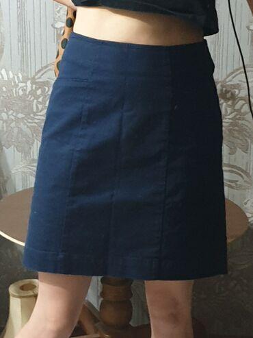 Классная плотная юбка темно синего цвета. Фирменная с Германии в