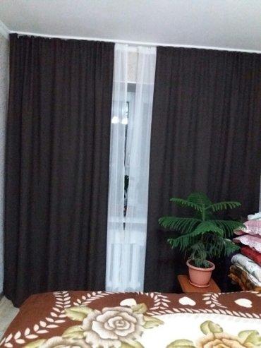 продаю шторы  коричневые льяные очень плотные на  одно окно  шири1. 40 в Бишкек