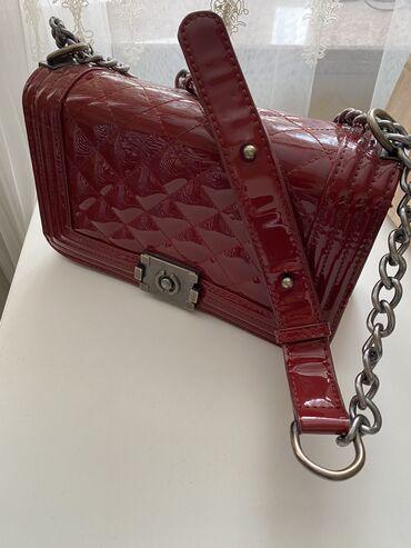 "chanel 5 в Кыргызстан: Сумка «Chanel Boy"" цвета марсала. Размер 25х15"