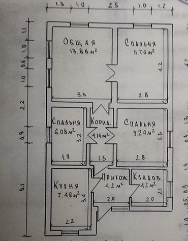 Кирпичный дом, 15 минут пешим от в Бишкек