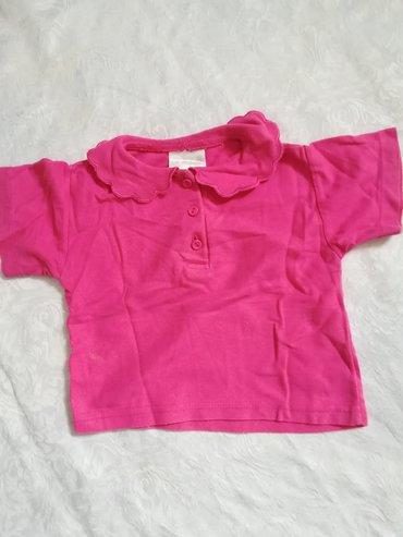 Dečiji Topići I Majice | Vranje: Pamučna roze majica sa kragnom i tri dugmića vel 2, obim ispod pazuha
