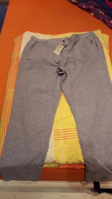 Muške Pantalone | Beocin: Muske nove lanene pantaline vel 52